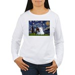 Starry/Pomeranian(r&w) Women's Long Sleeve T-Shirt