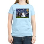 Starry/Pomeranian(r&w) Women's Light T-Shirt