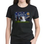 Starry/Pomeranian(r&w) Women's Dark T-Shirt