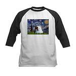 Starry/Pomeranian(r&w) Kids Baseball Jersey
