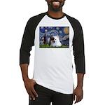 Starry/Pomeranian(r&w) Baseball Jersey