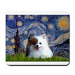 Starry/Pomeranian(r&w) Mousepad
