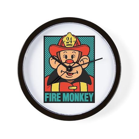 Fire Monkey Wall Clock