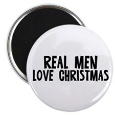 "Real Men Love Christmas 2.25"" Magnet (10 pack)"