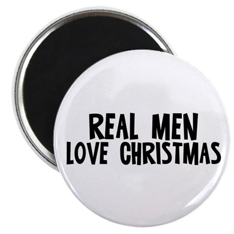 """Real Men Love Christmas 2.25"""" Magnet (10 pack)"""
