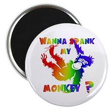 GLBT Spank My Monkey Magnet