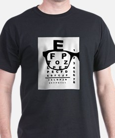 Blurr Eye Test Chart T-Shirt