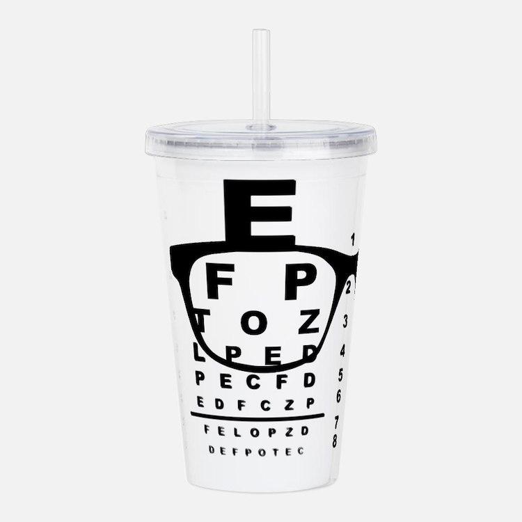 Blurr Eye Test Chart Acrylic Double-wall Tumbler