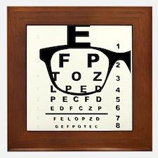 Blurr Eye Test Chart Framed Tile