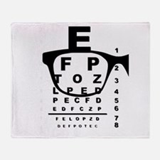 Blurr Eye Test Chart Throw Blanket