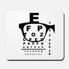 Blurr Eye Test Chart Mousepad