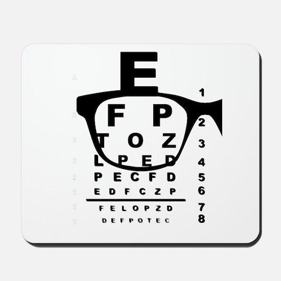 Blurr Eye Test Chart Mousepad