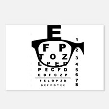 Blurr Eye Test Chart Postcards (Package of 8)