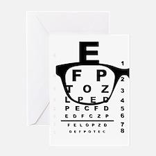 Blurr Eye Test Chart Greeting Cards