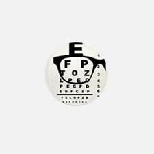 Blurr Eye Test Chart Mini Button (10 pack)