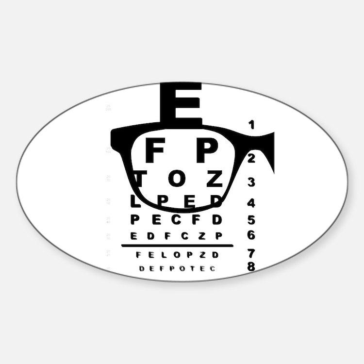 Blurr Eye Test Chart Decal