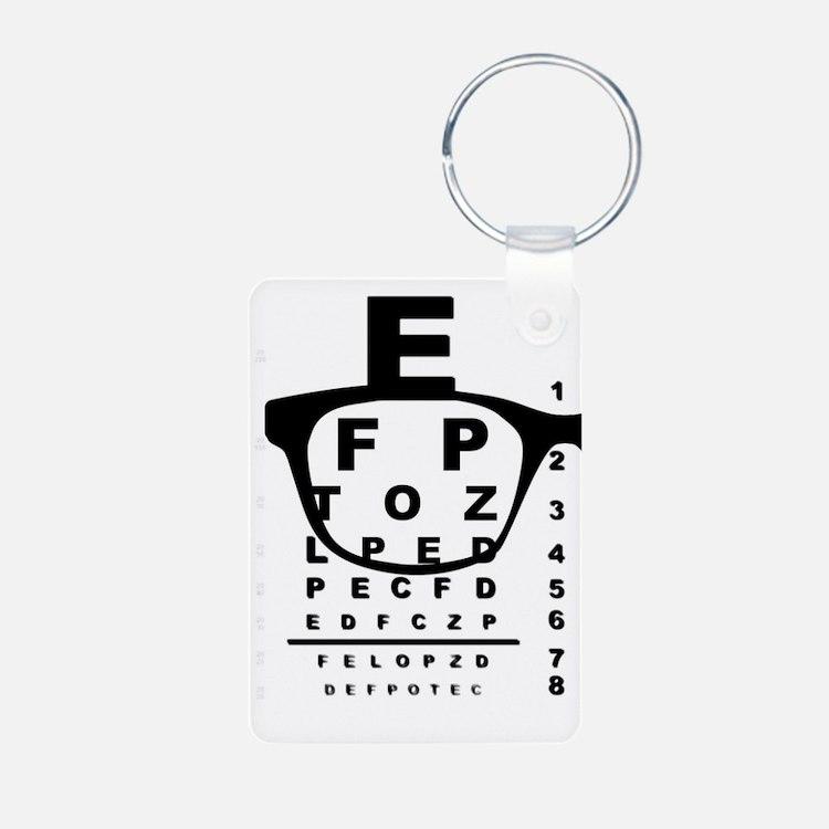 Blurr Eye Test Chart Keychains