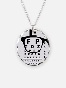 Blurr Eye Test Chart Necklace
