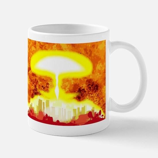 Atomic Bomb Heat Background Mugs