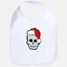 Christmas Santa Skull Bib