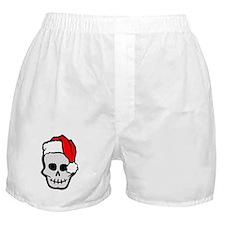 Christmas Santa Skull Boxer Shorts