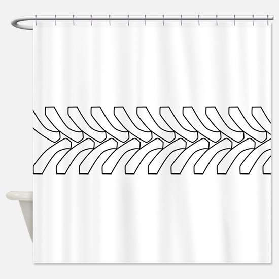 Tractor Tyre Tread Outline Shower Curtain