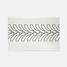 Tractor Tyre Tread Outline Magnets