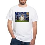 Starry / Pomeranian White T-Shirt
