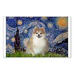 Starry / Pomeranian Sticker (Rectangle)