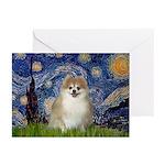Starry / Pomeranian Greeting Cards (Pk of 20)