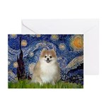 Starry / Pomeranian Greeting Cards (Pk of 10)