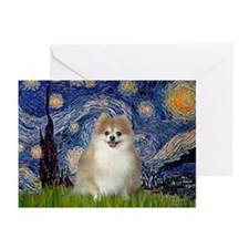 Starry / Pomeranian Greeting Cards (Pk of 10)