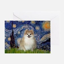 Starry / Pomeranian Greeting Card