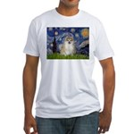 Starry / Pomeranian Fitted T-Shirt