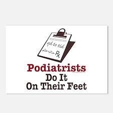 Funny Podiatry Podiatrist Postcards (Package of 8)