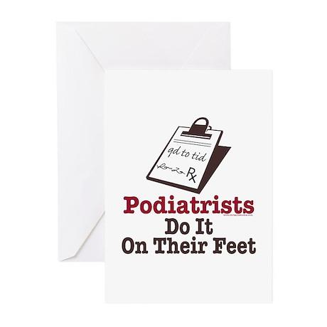Funny Podiatry Podiatrist Greeting Cards (Pk of 20