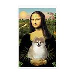 Mona/Pomeranian (#1) Sticker (Rectangle)