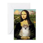 Mona/Pomeranian (#1) Greeting Cards (Pk of 10)