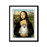 Mona/Pomeranian (#1) Framed Panel Print
