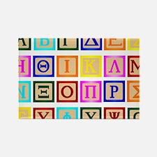Cute Greek letters Rectangle Magnet