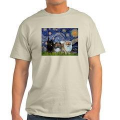 Starry/3 Pomeranians T-Shirt