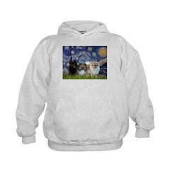 Starry/3 Pomeranians Hoodie