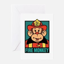 Fire Monkey Greeting Cards (Pk of 10)