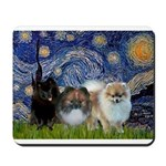 Starry/3 Pomeranians Mousepad
