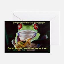 Unique Colonoscopy Greeting Card