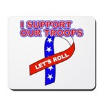 Support the Troops Ribbon Mousepad