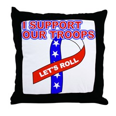 Support the Troops Ribbon Throw Pillow
