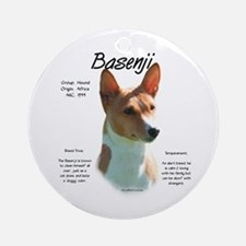 Basenji (chestnut) Ornament (Round)
