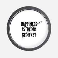 Happiness is being Geoffrey Wall Clock