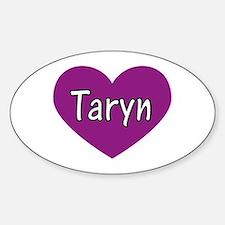 Taryn Oval Decal
